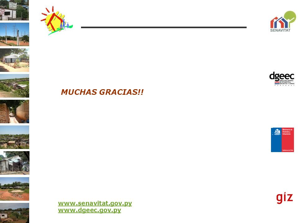 MUCHAS GRACIAS!! www.senavitat.gov.py www.dgeec.gov.py