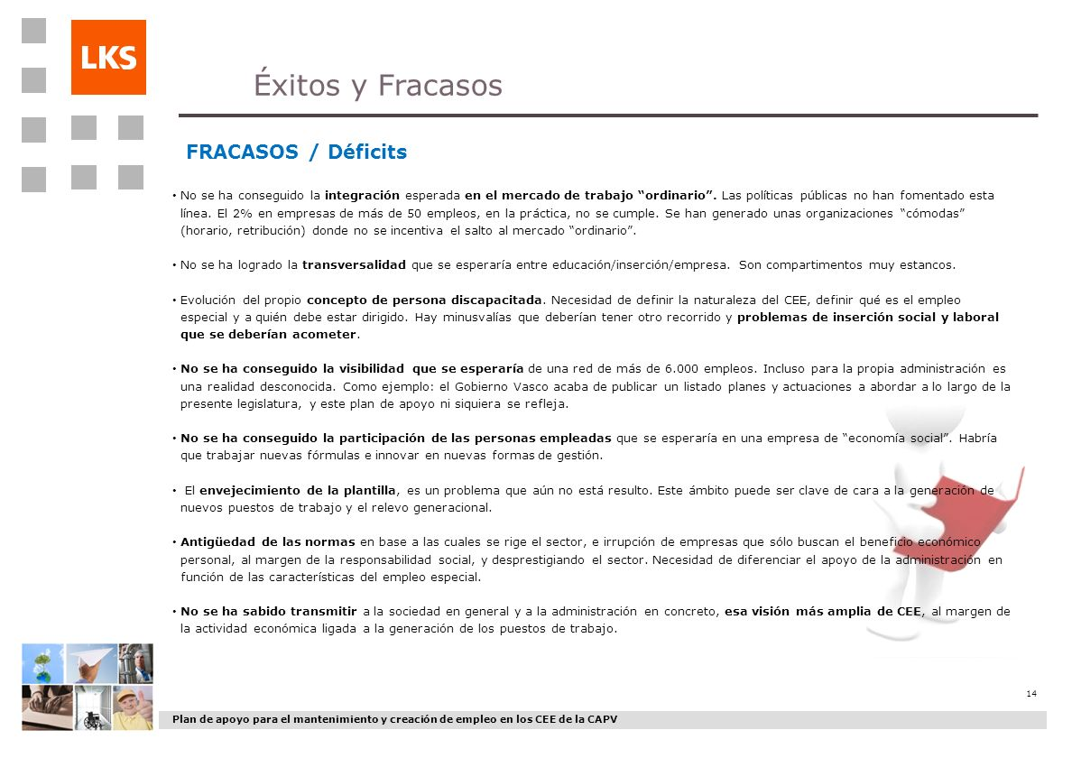 Éxitos y Fracasos FRACASOS / Déficits