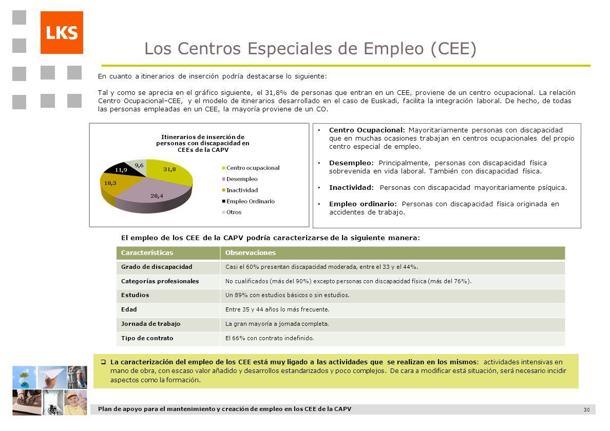 Los Centros Especiales de Empleo (CEE)