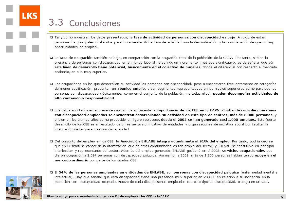 3.3 Conclusiones.