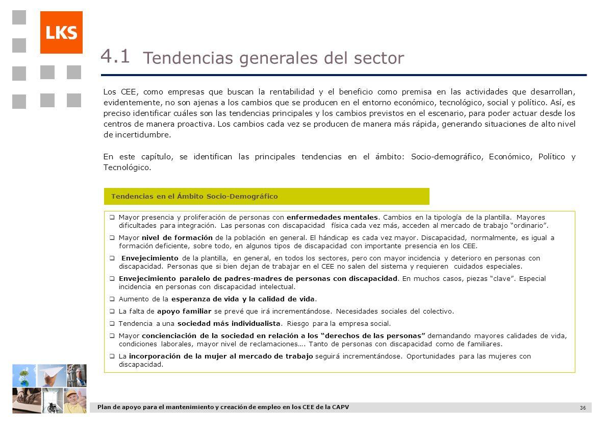 4.1 Tendencias generales del sector