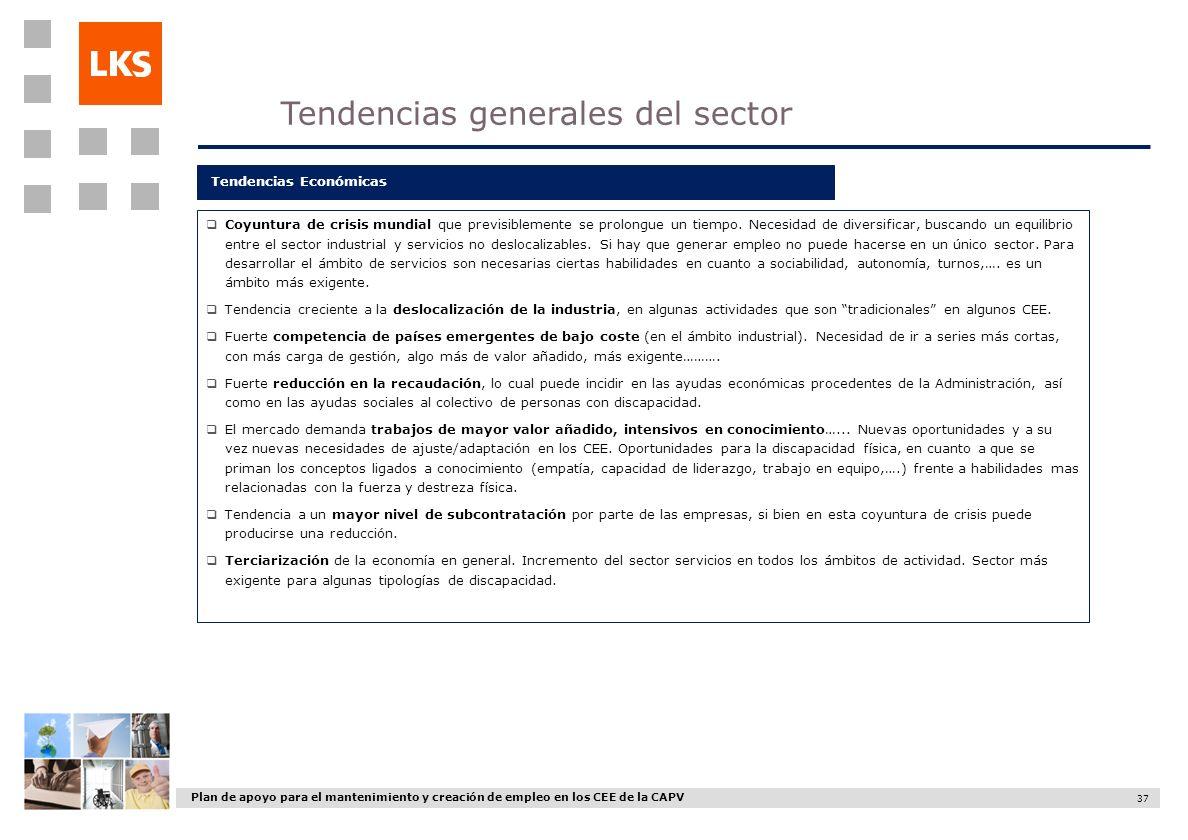 Tendencias generales del sector