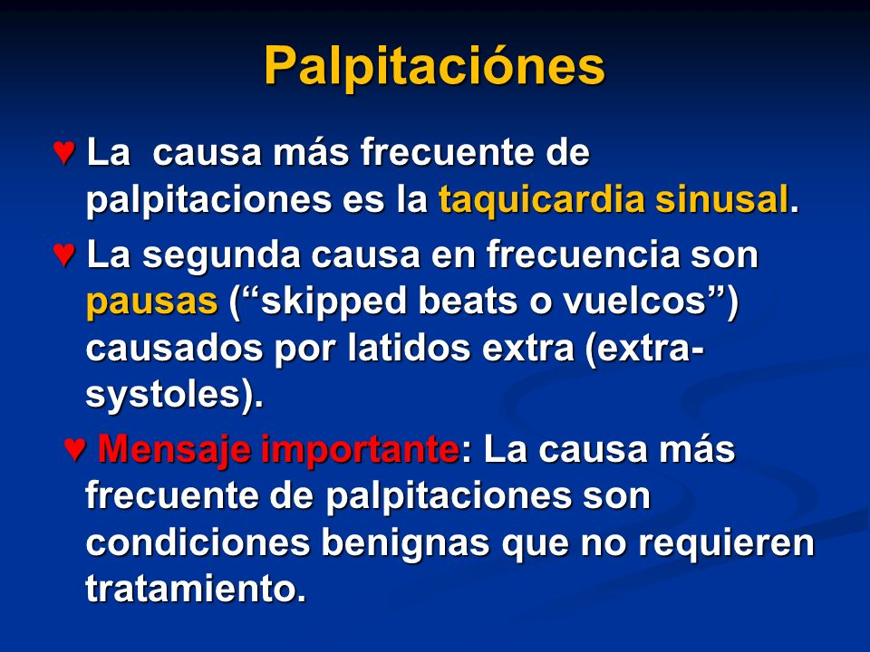 Palpitaciónes