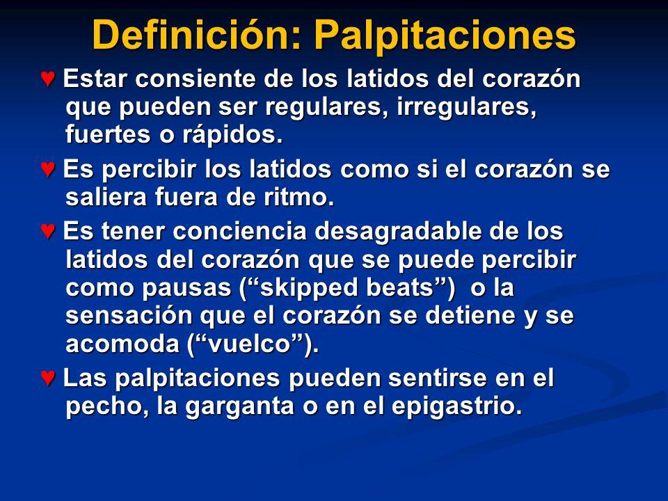Definición: Palpitaciones