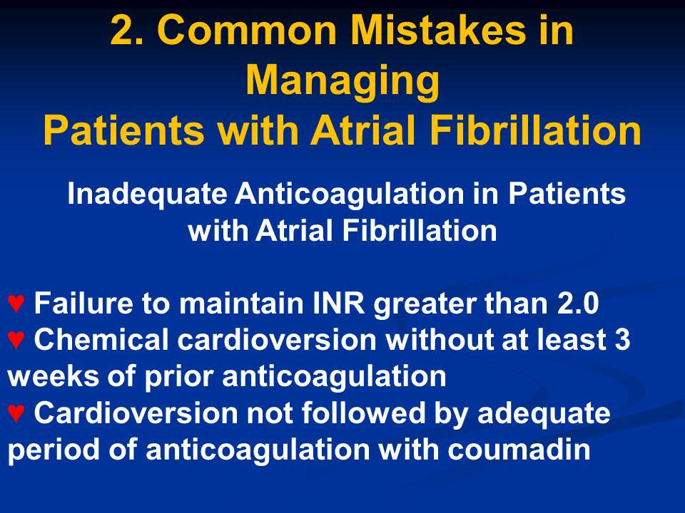 2. Common Mistakes in Managing Patients with Atrial Fibrillation