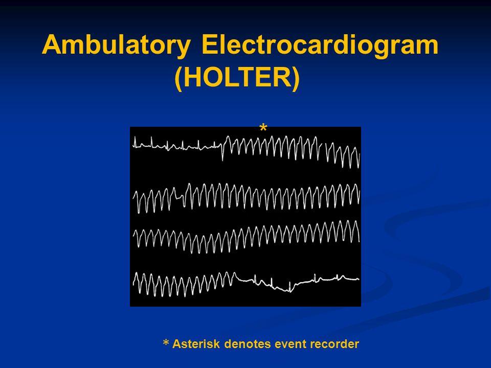Ambulatory Electrocardiogram (HOLTER)