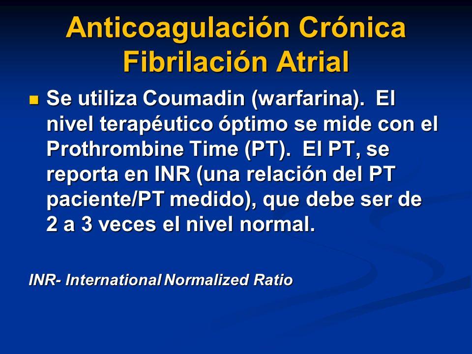 Anticoagulación Crónica Fibrilación Atrial