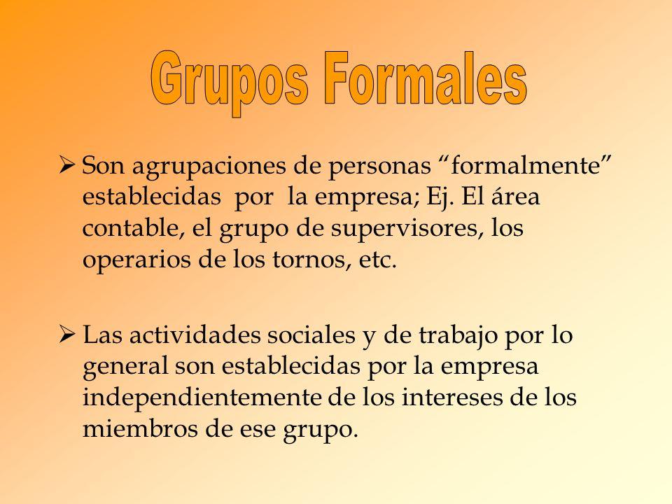 Grupos Formales