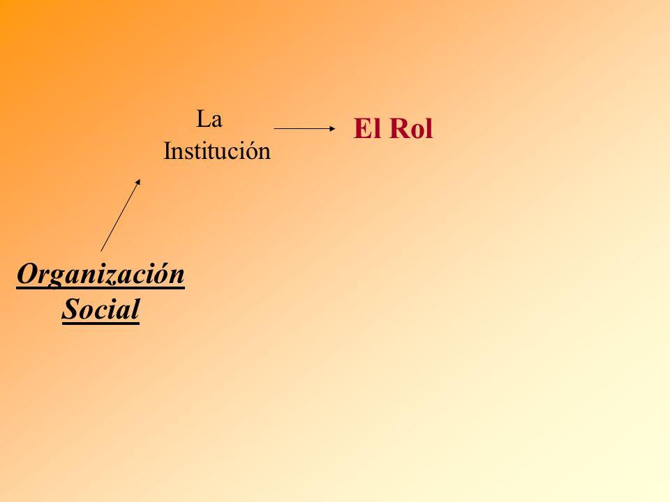 La Institución El Rol Organización Social