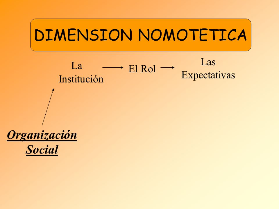 DIMENSION NOMOTETICA DIMENSION NOMOTETICA La Institución