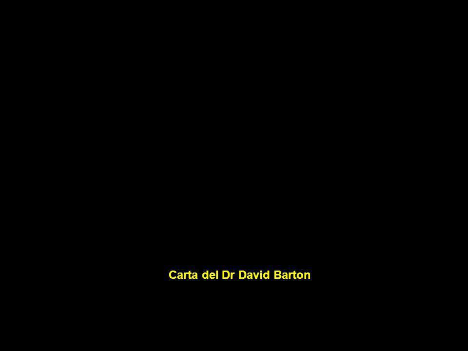 Carta del Dr David Barton