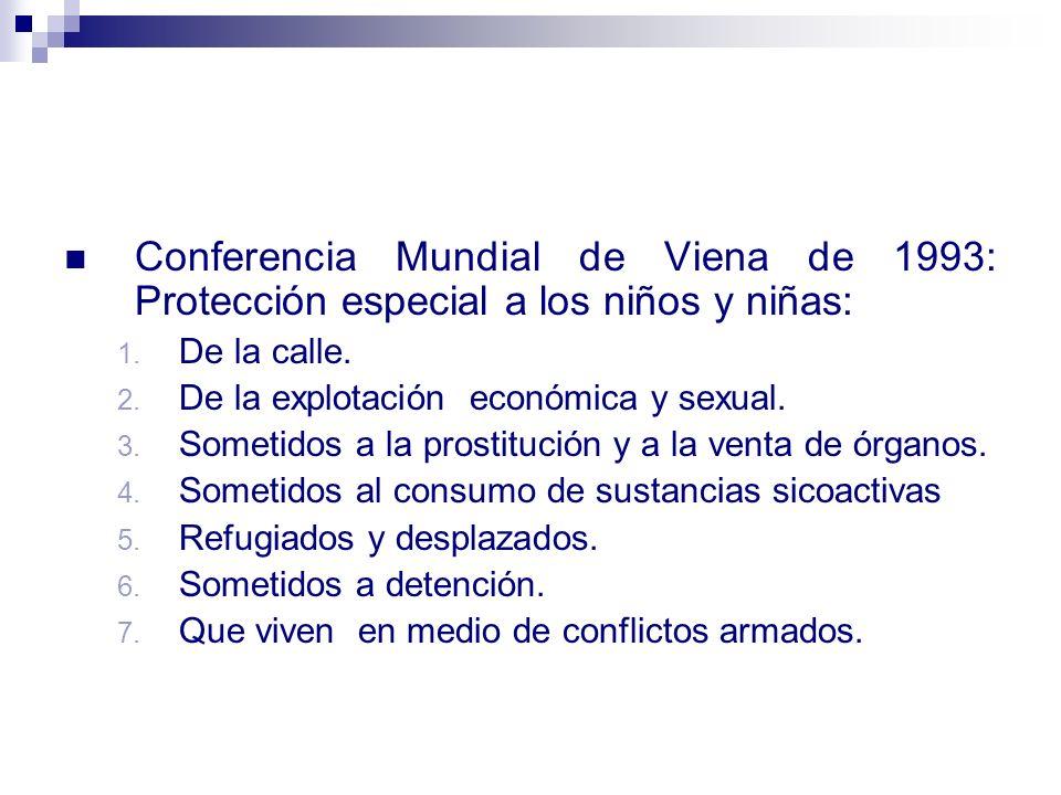 Conferencia Mundial de Viena de 1993: Protección especial a los niños y niñas: