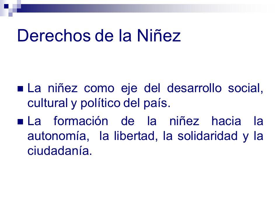 Derechos de la NiñezLa niñez como eje del desarrollo social, cultural y político del país.