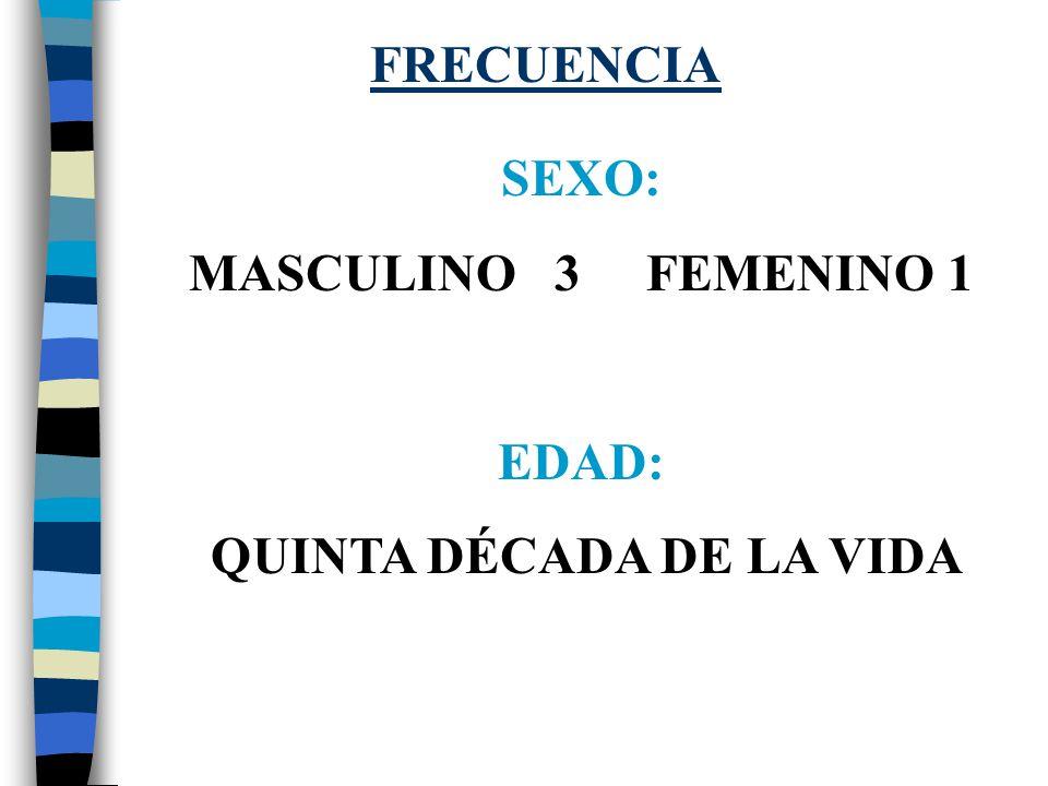 Frecuencia media sexo masculino