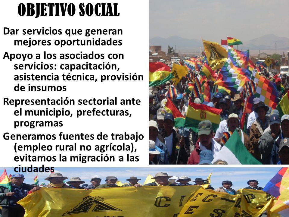 OBJETIVO SOCIAL Dar servicios que generan mejores oportunidades