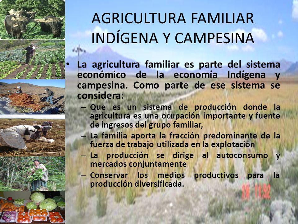 AGRICULTURA FAMILIAR INDÍGENA Y CAMPESINA