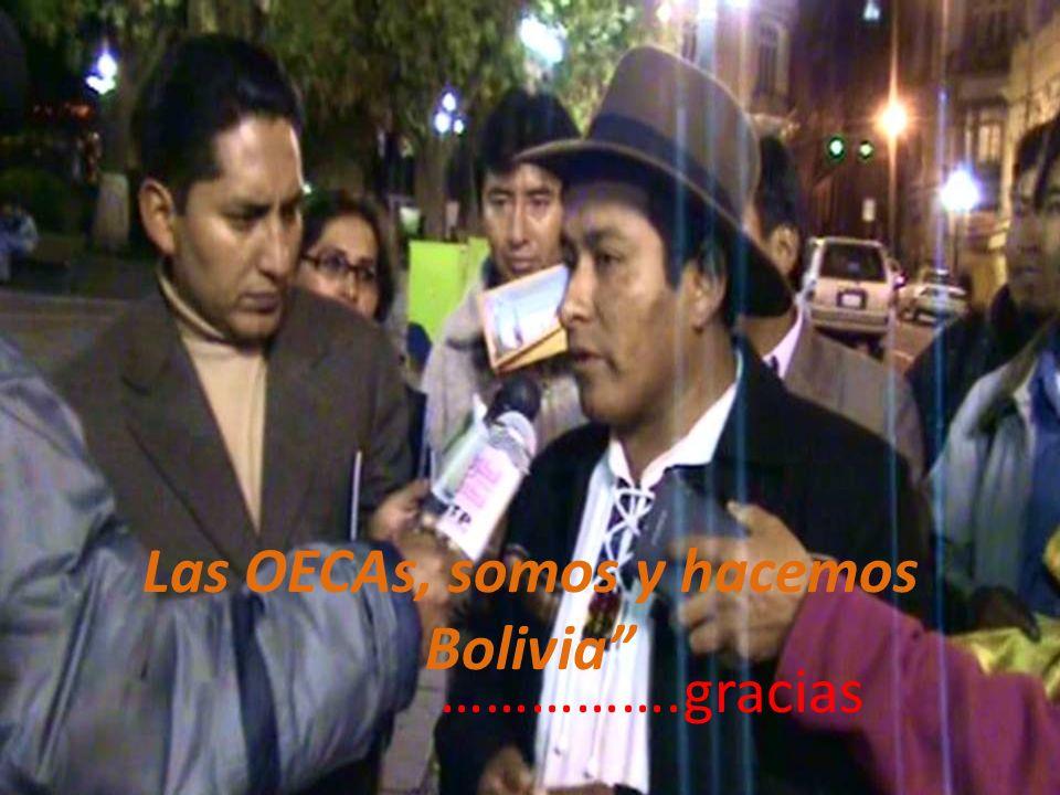 Las OECAs, somos y hacemos Bolivia