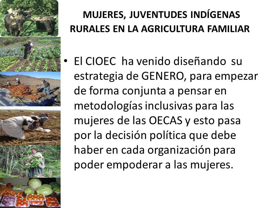 MUJERES, JUVENTUDES INDÍGENAS RURALES EN LA AGRICULTURA FAMILIAR