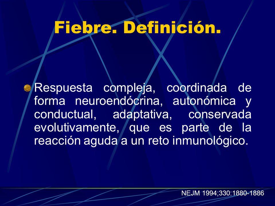 Fiebre. Definición.