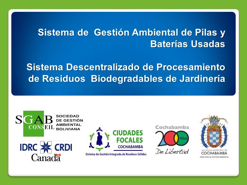 Sistema de Gestión Ambiental de Pilas y Baterías Usadas