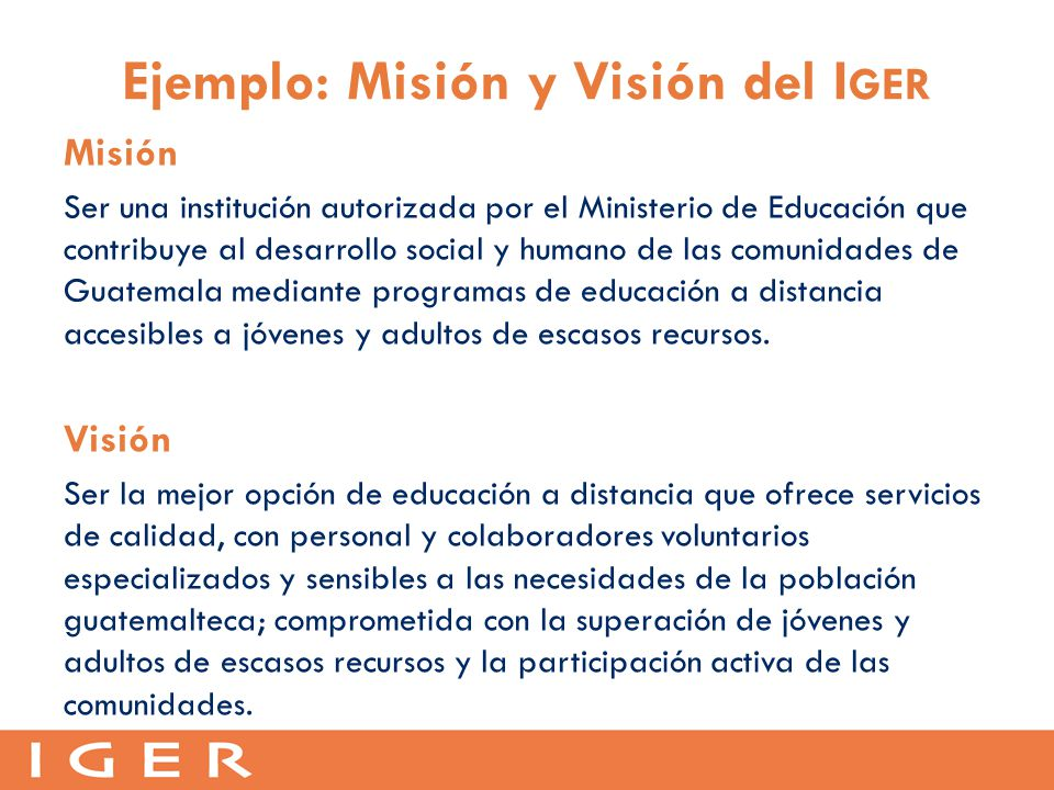 mision y vision esso on the run metrocentro