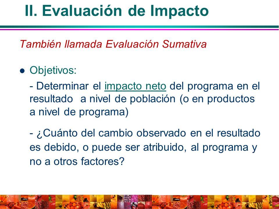II. Evaluación de Impacto