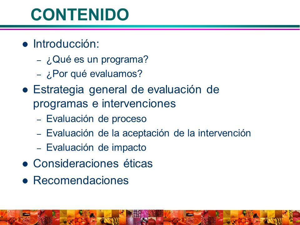 CONTENIDO Introducción:
