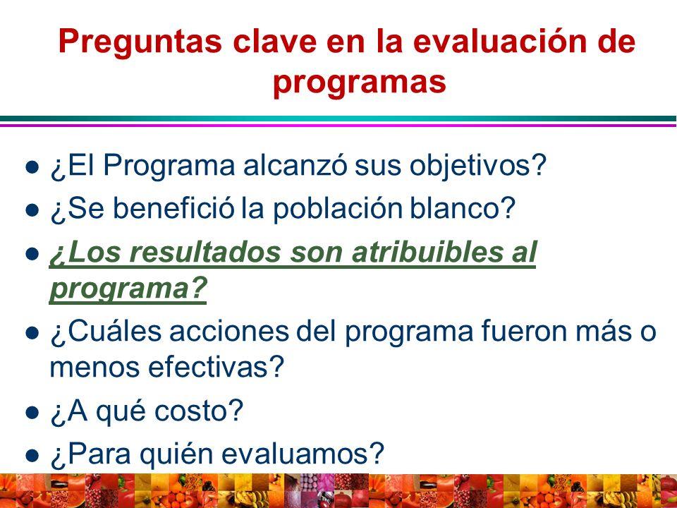 Preguntas clave en la evaluación de programas