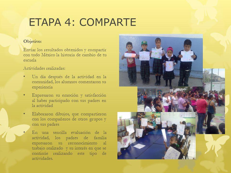 ETAPA 4: COMPARTE Objetivo: