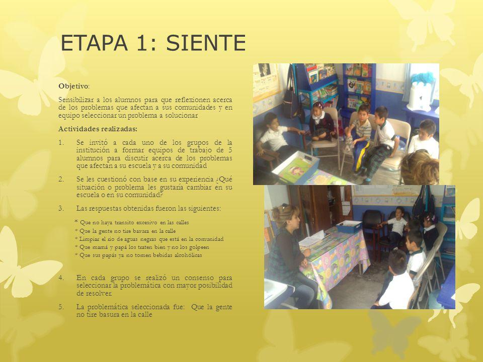 ETAPA 1: SIENTE Objetivo: