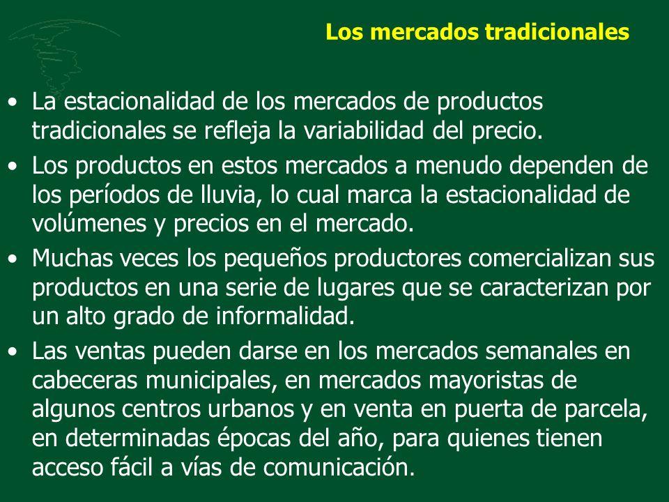 Los mercados tradicionales