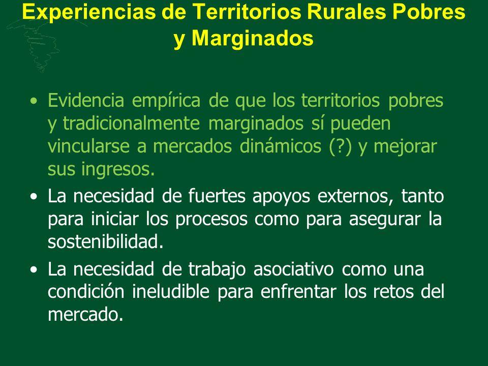Experiencias de Territorios Rurales Pobres y Marginados