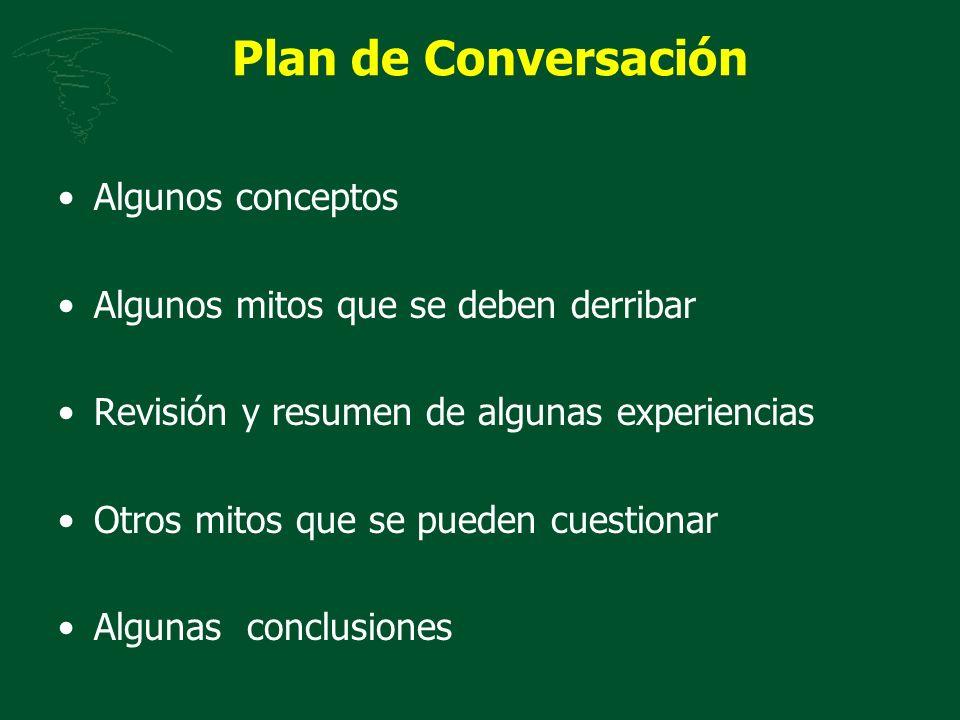 Plan de Conversación Algunos conceptos