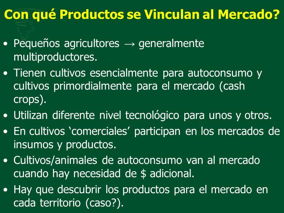 Con qué Productos se Vinculan al Mercado