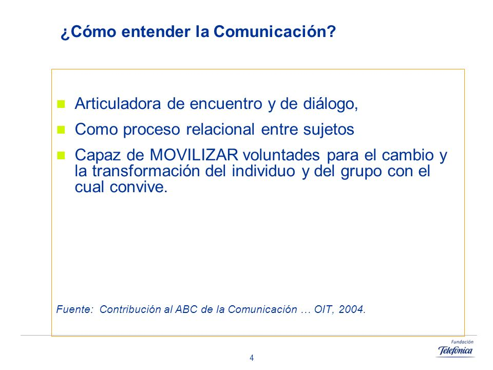 ¿Cómo entender la Comunicación