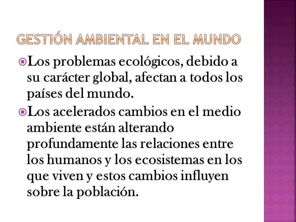 Gestión ambiental en el mundo