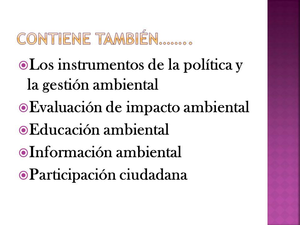 Los instrumentos de la política y la gestión ambiental