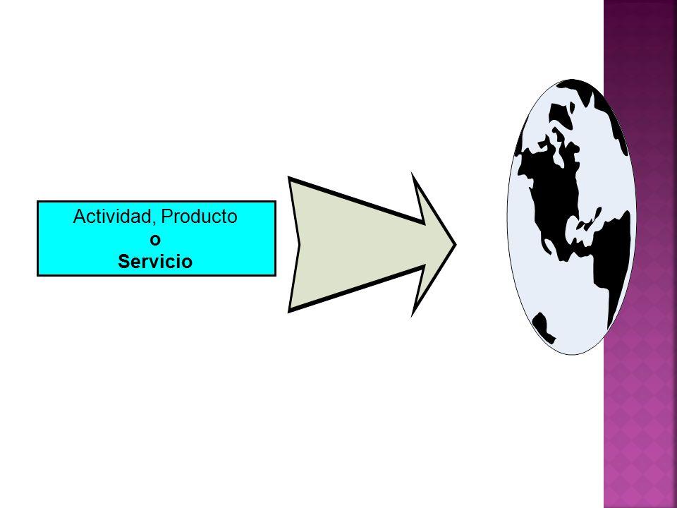 Actividad, Producto o Servicio