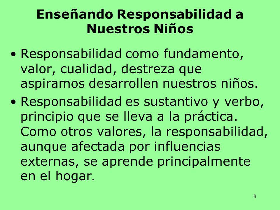 Enseñando Responsabilidad a Nuestros Niños
