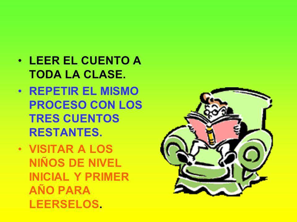 LEER EL CUENTO A TODA LA CLASE.
