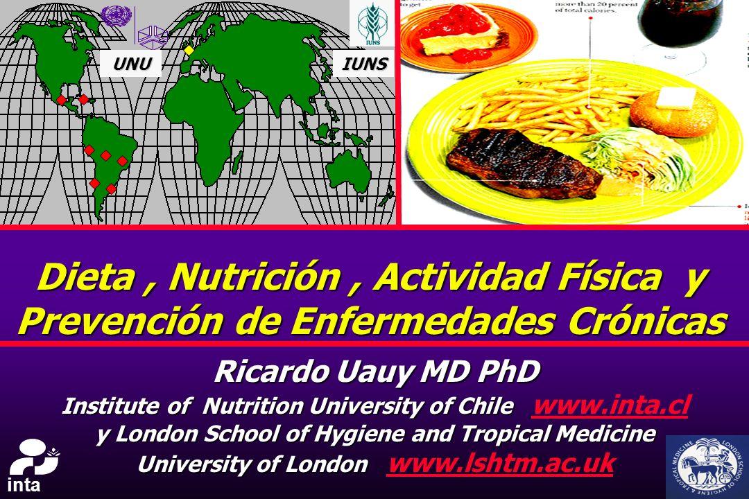UNU IUNS. Dieta , Nutrición , Actividad Física y Prevención de Enfermedades Crónicas. Ricardo Uauy MD PhD.