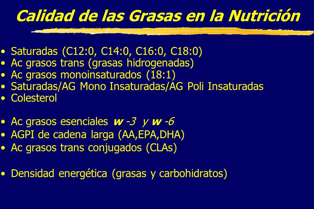 Calidad de las Grasas en la Nutrición