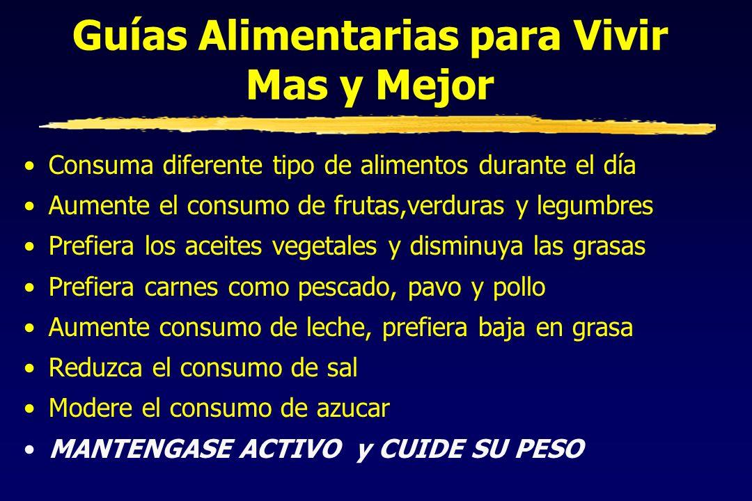 Guías Alimentarias para Vivir Mas y Mejor