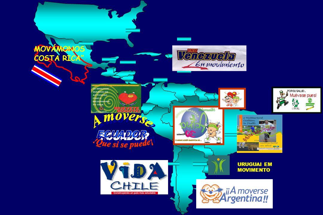 A moverse ECUADOR !Que si se puede¡ MOVÁMONOS COSTA RICA URUGUAI EM