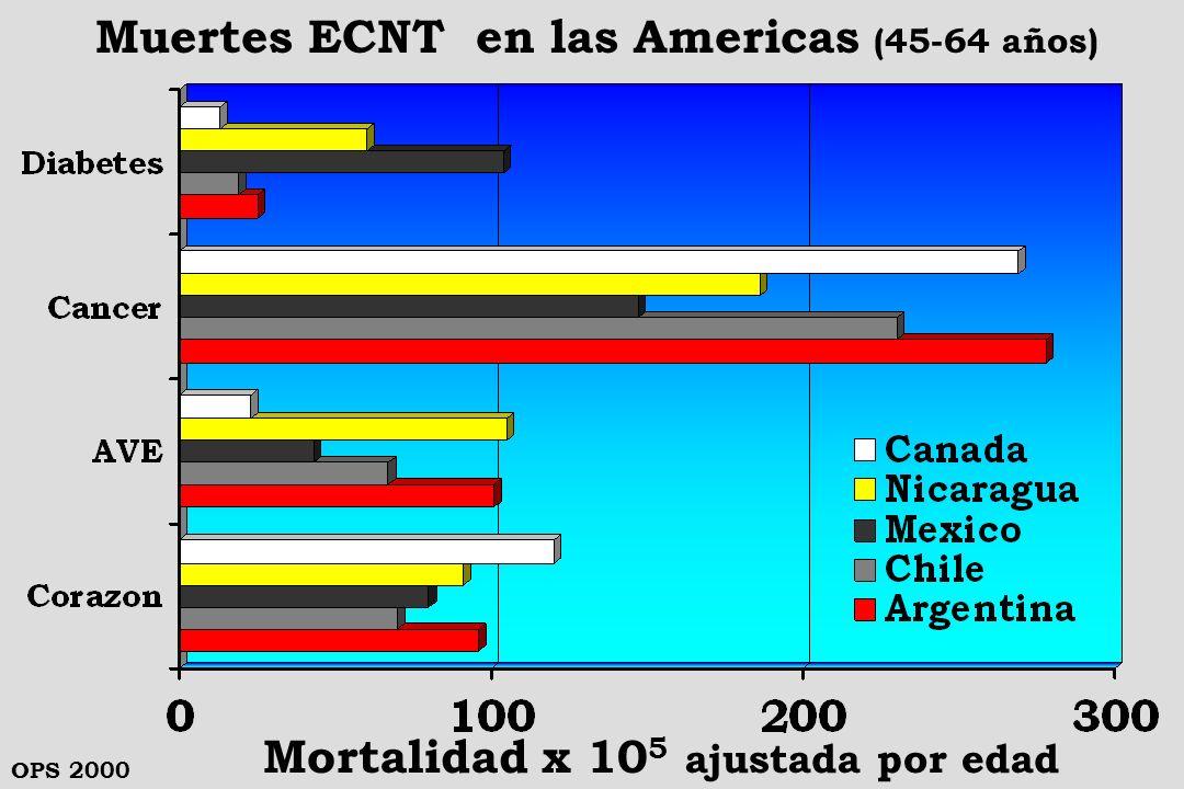 Muertes ECNT en las Americas (45-64 años)