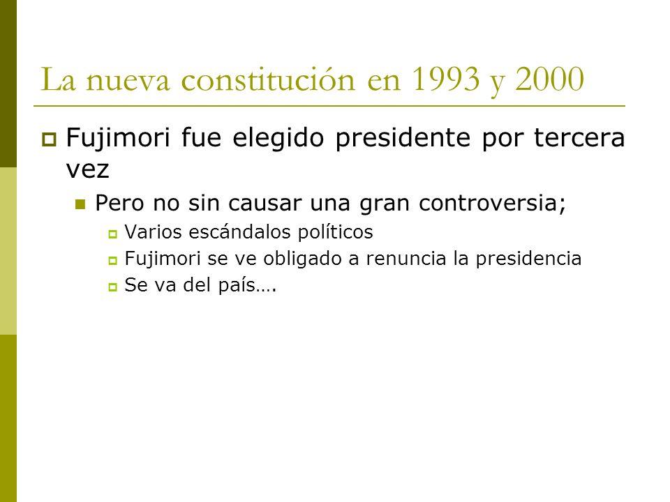 La nueva constitución en 1993 y 2000