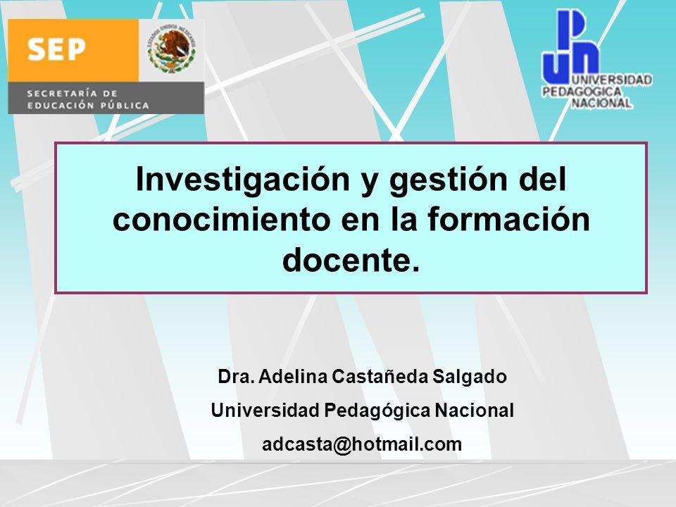 Investigación y gestión del conocimiento en la formación docente.