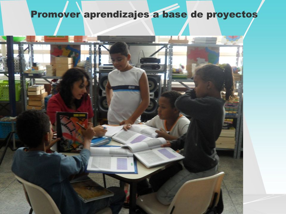 Promover aprendizajes a base de proyectos