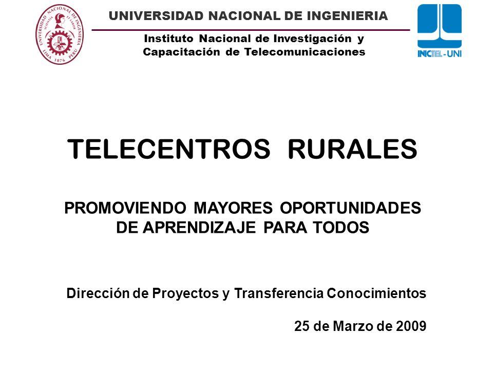 Unidad Ejecutora 002 INICTEL -UNI.