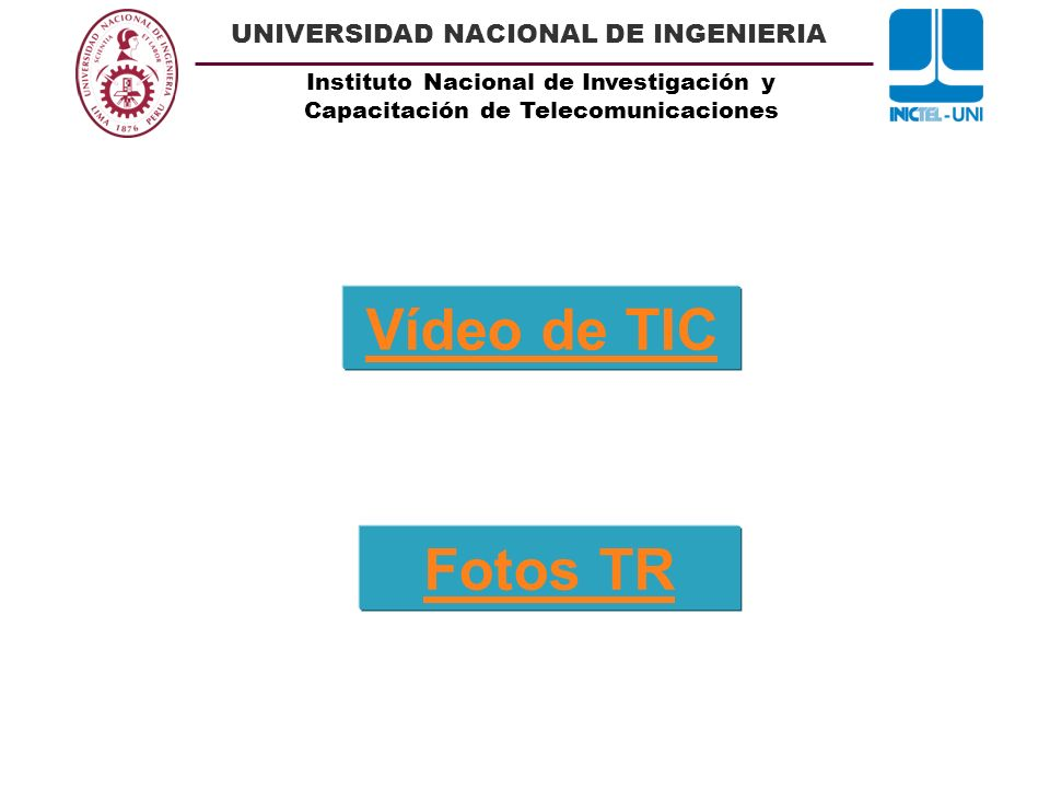 Vídeo de TIC Fotos TR